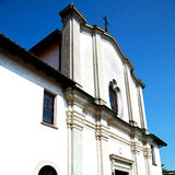 Old architecture in italy     europe milan religion and sunlight Royalty Free Stock Photo