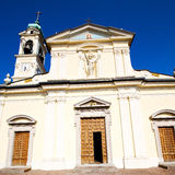 Old architecture in italy    europe milan religion and sunlight Royalty Free Stock Photography