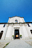 Old architecture in italy     europe milan religion and sunlight Royalty Free Stock Images