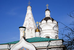 Old architecture of Kolomenskoye park. Ascension church Royalty Free Stock Images