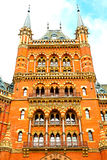 old architecture in london england  brick exterior wall Stock Photography
