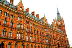 old architecture in london england  brick exterior Royalty Free Stock Photo