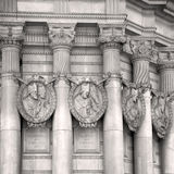 old architecture in  london europe wall and history Royalty Free Stock Images