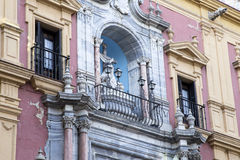 Old architecture in Malaga, Andalusia, Spain Stock Photography