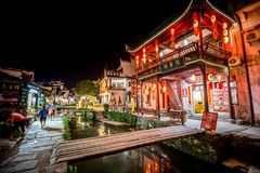 The old architecture and most beautiful village of china call `Likeng Village in Wuyuan` upcountry of China royalty free stock photo
