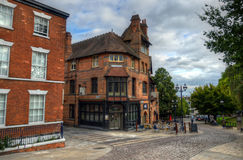 Old architecture in Nottingham, England.  Royalty Free Stock Images