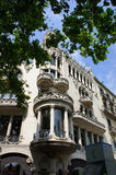 Old architecture at Passeig de Gracia street at Barcelona, Spain Royalty Free Stock Photos