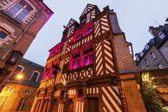 Old architecture in Rennes. Rennes, Brittany, France Royalty Free Stock Image