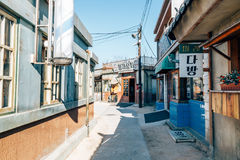 Old architecture and street in Jangsaengpo village from 1960s to 70s in Korea Royalty Free Stock Photos