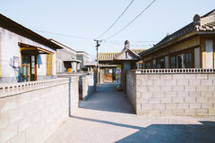 Old architecture and street in Jangsaengpo village from 1960s to 70s, Korea Stock Photos