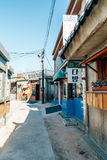 Old architecture and street in Jangsaengpo village from 1960s to 70s in Korea Stock Photos