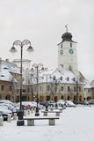 Old architecture in town Sibiu Stock Photography