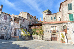 Old architecture in the tuscan village Stock Image