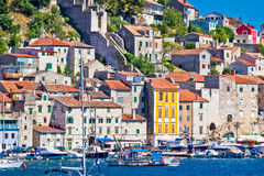 Old architecture of UNESCO town of Sibenik Stock Images