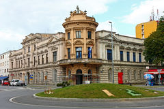 Old Architecture of Virovitica, Croatia. CROATIA VIROVITICA, 19 MARCH 2016: The Building of the first Croatian Savings Bank, a monument of the 19th century Stock Photo