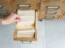 Old archive with drawers Royalty Free Stock Photos