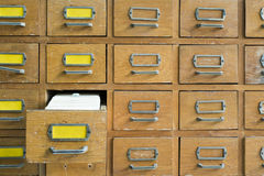 Old archive with drawers Royalty Free Stock Photography