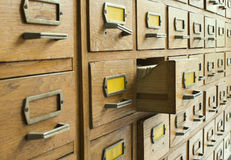 Old archive with drawers Stock Images