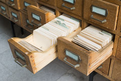 Old archive with drawers Stock Photography