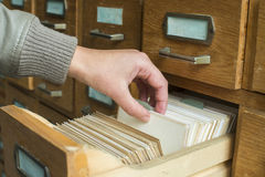 Old archive with drawers Royalty Free Stock Image