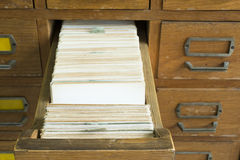 Old archive with drawers. Old archive with wooden drawers stock photography