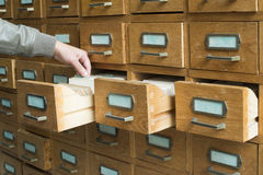 Old archive with drawers Royalty Free Stock Images