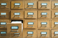 Old archive with drawers Stock Photo