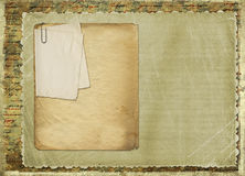 Old archive with letters, photos. On the abstract grunge background Stock Photography
