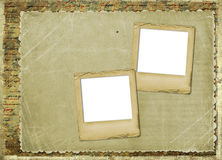 Old archive with letters, photos. On the abstract grunge background Royalty Free Stock Photography