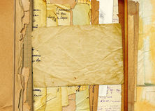 Old archive with letters, photos. On the abstract background Royalty Free Stock Photos