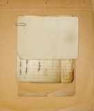Old archive with letters, photos. On the abstract grunge background Royalty Free Stock Image