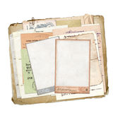 Old archive with letters, photos Stock Photo