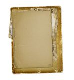 Old archive with letters, photos. On the white isolated background Royalty Free Stock Photos