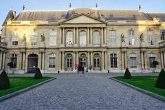 The old Archives Nationales (National Archives) of France in Paris Stock Photos