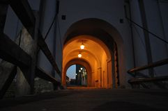 Old archway at night Royalty Free Stock Photo