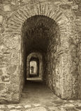 Old archway in sepia tone Royalty Free Stock Photo