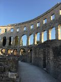 Arena in pula, croatia. Old arena in Pula, Croatia Royalty Free Stock Image