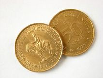 Old Argentina Coins Royalty Free Stock Photos