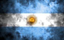 Old Argentina grunge background flag.  Royalty Free Stock Photography