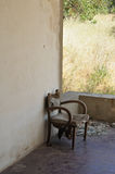 Old armchair abandoned porch Stock Photography
