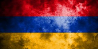 Old Armenia grunge background flag.  Royalty Free Stock Photography