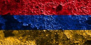 Old Armenia grunge background flag.  Royalty Free Stock Photo