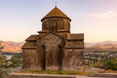 Old Armenian church in the mountains. View of old Armenian church in the mountains stock photography