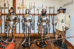 Old armour in the Marksburg castle Stock Photography