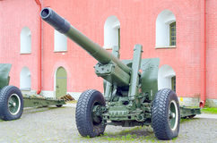 Old army artillery cannon. Stock Image