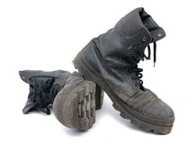 Old army boots Royalty Free Stock Images