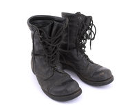 Old army boots - Corcoran. Old American Army boots - Corcoran - on white background Royalty Free Stock Image