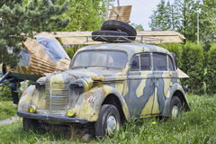 Old army car on backyard. Captured 20 may 2016. Editorial. Old army car on backyard. Captured 20 may 2016. Editorial photo Royalty Free Stock Photos