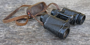 Old army field binocular Royalty Free Stock Photography