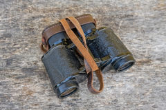 Old army field binocular Royalty Free Stock Image